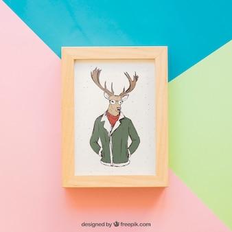 Showcase and frame mockup
