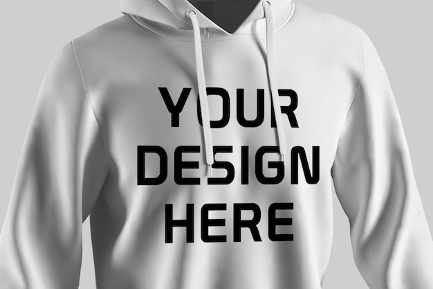 Showcase of hoodie mockup design isolated
