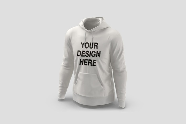 Showcase of hoodie mockup design rendering isolated