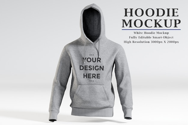 Showcase of hoodie mockup isolated