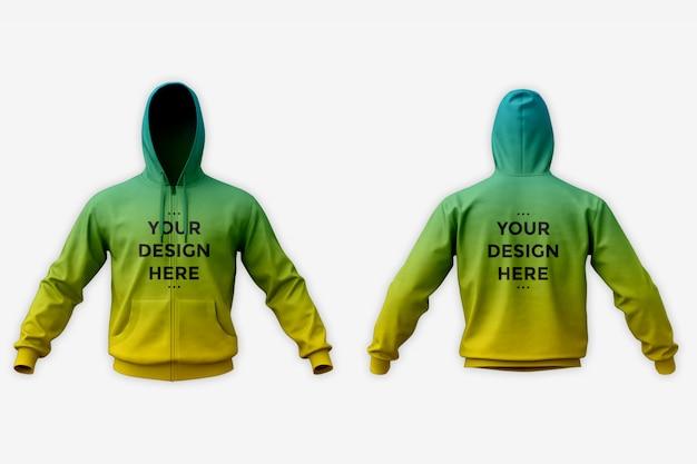 Showcase of hoodie mockup