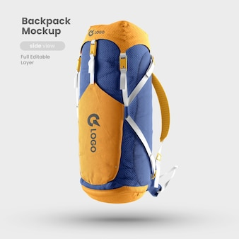 Side view of backpack mockup