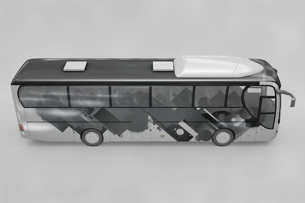 Side view of bus mockup
