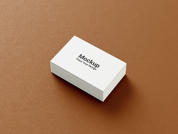 Side view business card mockup