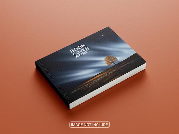 Горизонтальный макет журнала сбоку