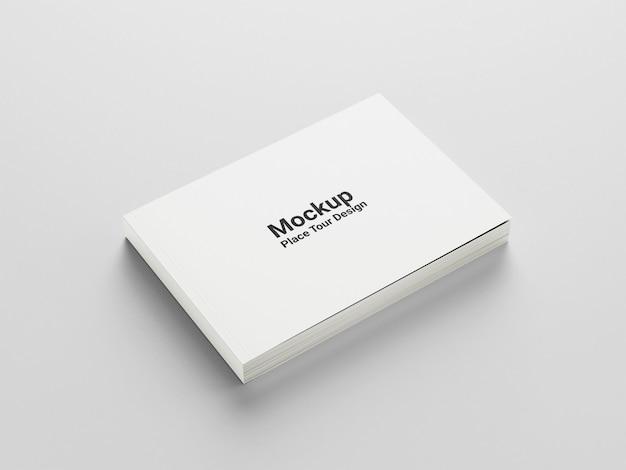 Макет обложки альбомной книги, вид сбоку