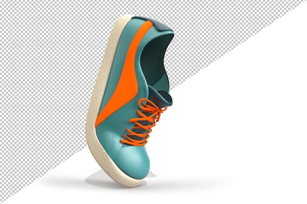 単一のカジュアルな靴のクリッピングパスの側面図