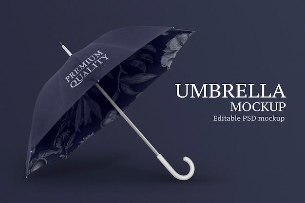開いた傘のデザインの側面図