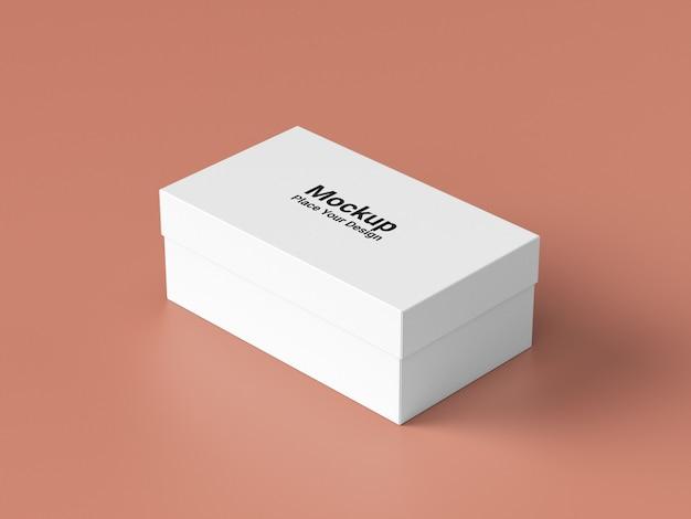 Макет концепции упаковочной коробки, вид сбоку
