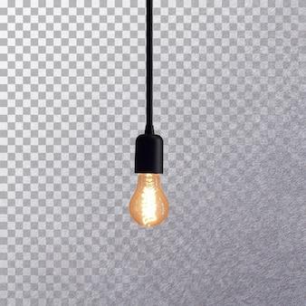 分離された側面図レトロ電球
