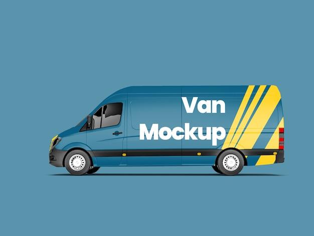 Side view of van mockup