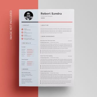 Sidebar creative resume template