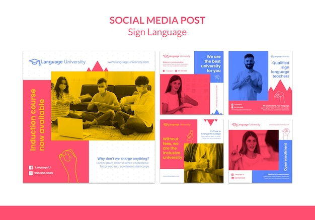 Sign language social media posts