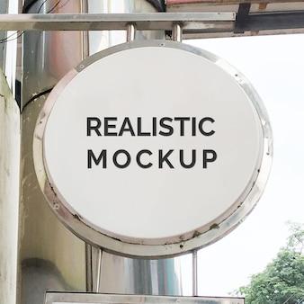 Sign logo realistic mockup