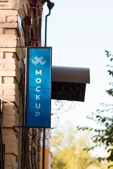 ストリートビジネスのモックアップに署名する