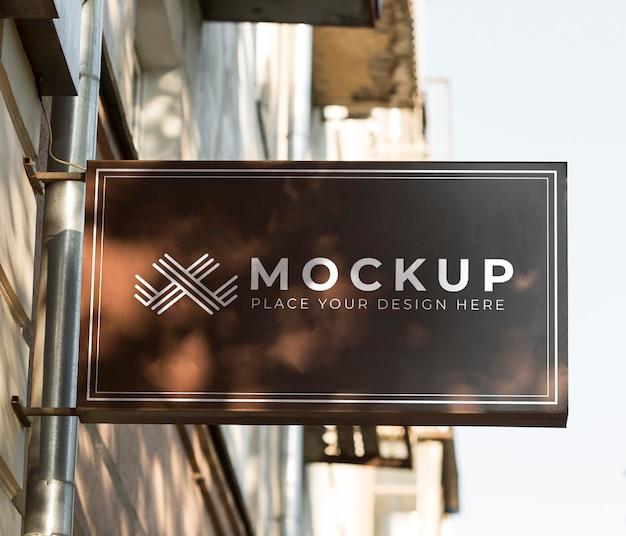 Sign mock-up for street business