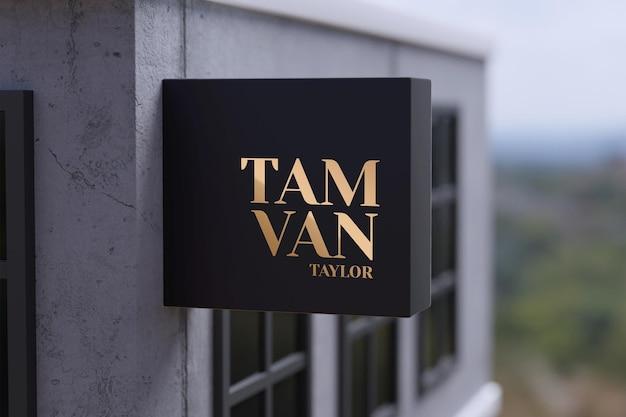 Sign mockup logo modern