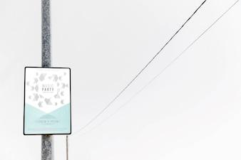 Sign mockup on pole