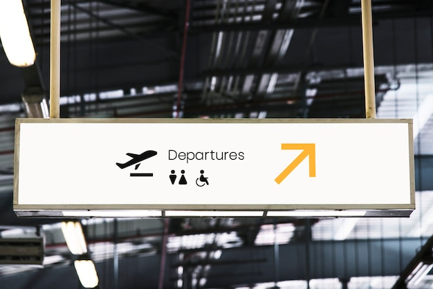Макет вывески в аэропорту