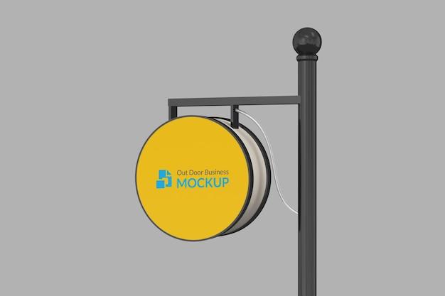 Signboard pole mockup Premium Psd