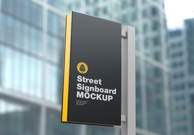Signboard wall mockup