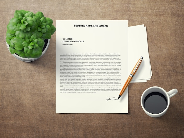 Signed document mock up