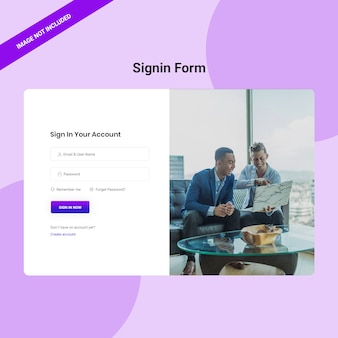Signin from design