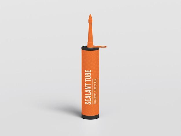 Silicone sealant tube mockup