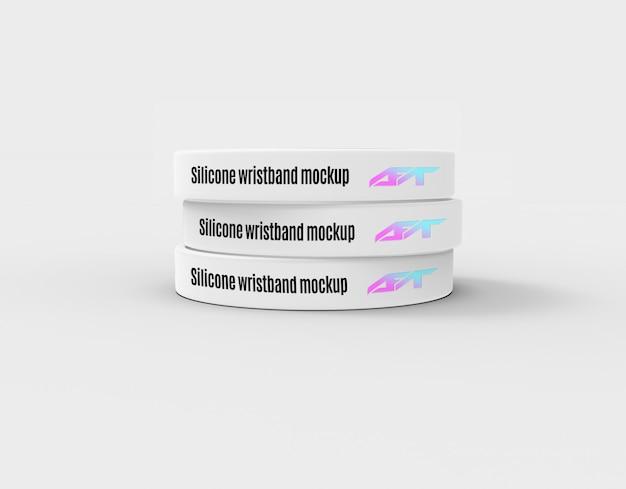 Silicone wristband mockup