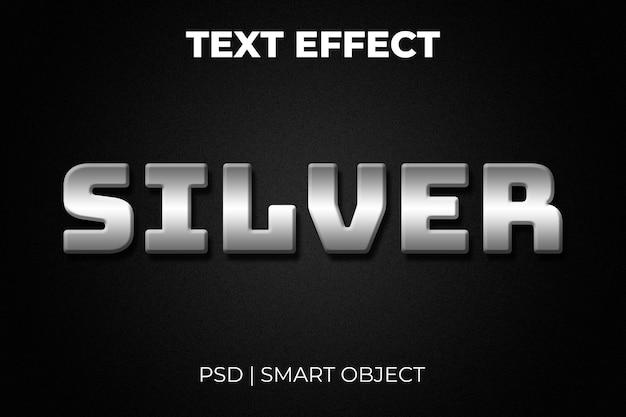 Серебряный 3d текстовый эффект