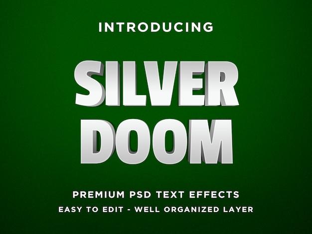 Silver doom 3d text effect