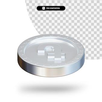Серебряная монета обмен 3d-рендеринга изолированные