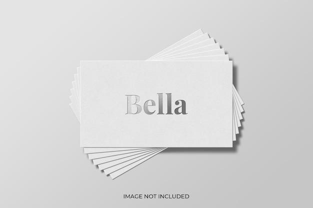 Silver foil stamped logo mockup