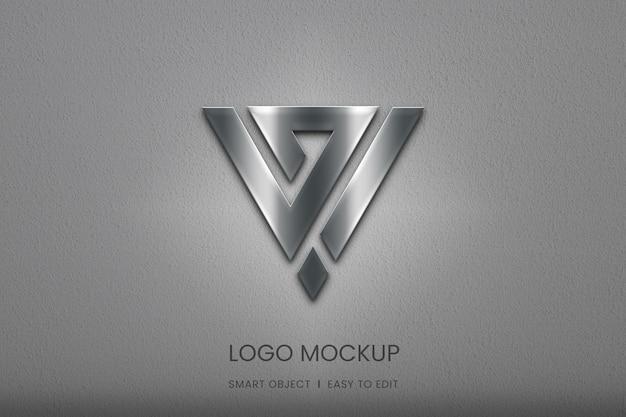 Silver gradient logo mockup