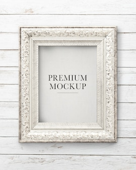 Silver picture frame mockup