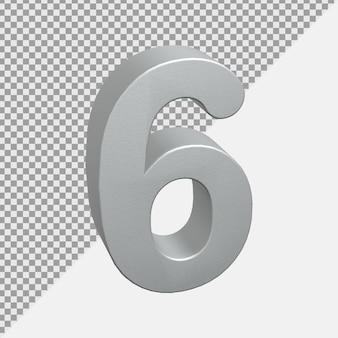 シルバーのリアルな3d数値レンダリング