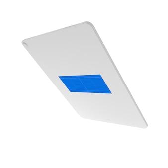 Silver tablet mockup