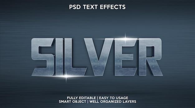 Серебряный текстовый эффект