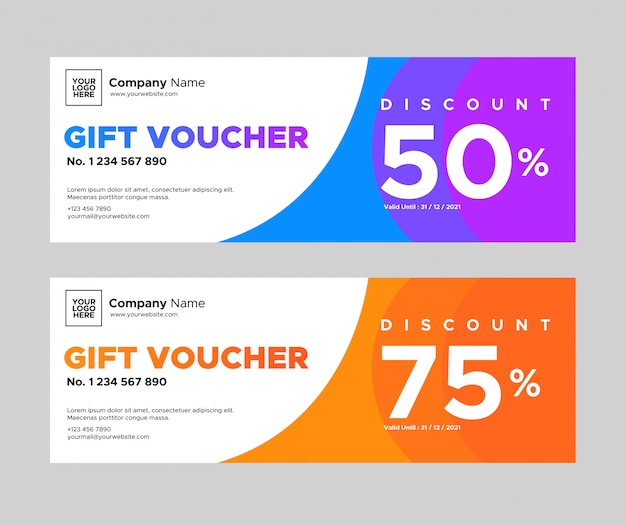 Simple abstract gift voucher design