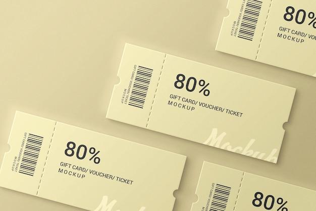 간단하고 우아한 티켓 모형
