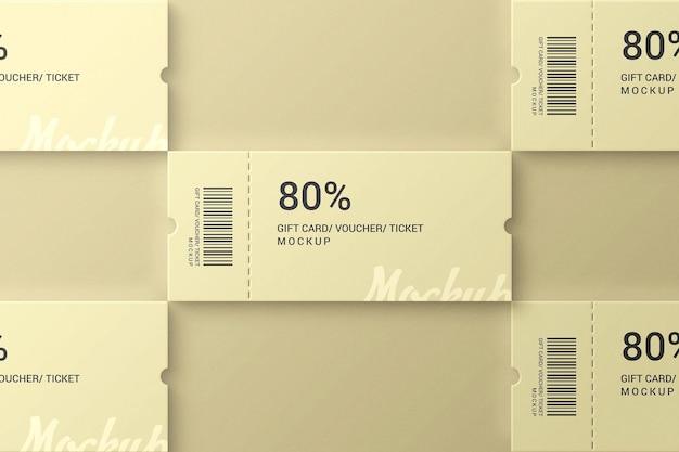 간단하고 우아한 티켓 바우처 및 선물 모형