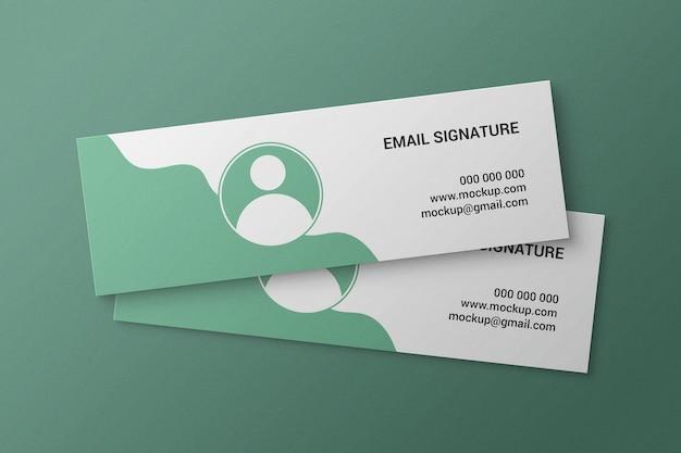 Простой и минималистичный макет подписи электронной почты