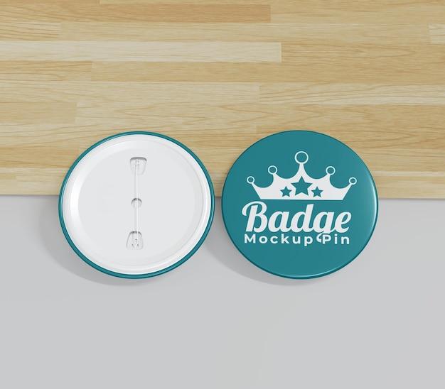 Simple badge mockup for merchandising