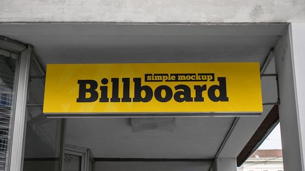Simple billboard mockup