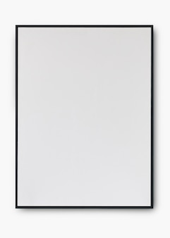 Mockup psd con cornice nera semplice con spazio di progettazione