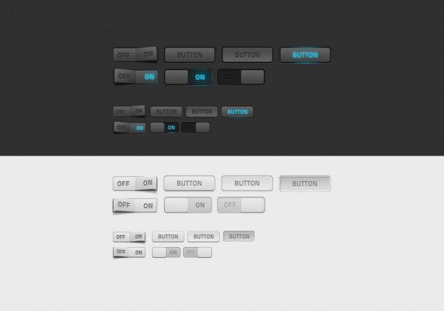 Simple black and white web design vectors