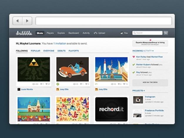 Semplice browser chrome psd