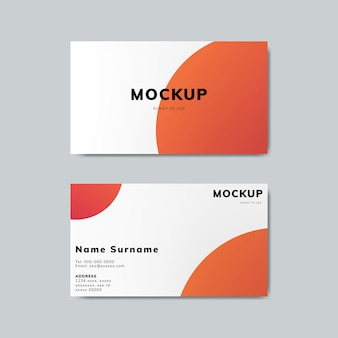 Simple business card design mockup