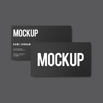 Simple business card design mockup