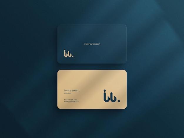 シンプルなビジネスカードプレミアム品質のモックアップ